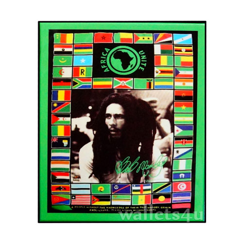 Magic Wallet, Bob Marley With Flags - MWFMSP 0184
